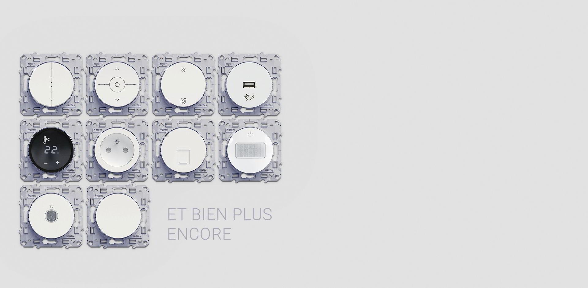 Appareillages pieuvres électriques proposés avec la domotique Essensys
