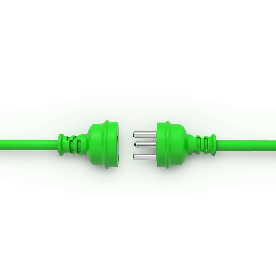 Prise verte déconnectée