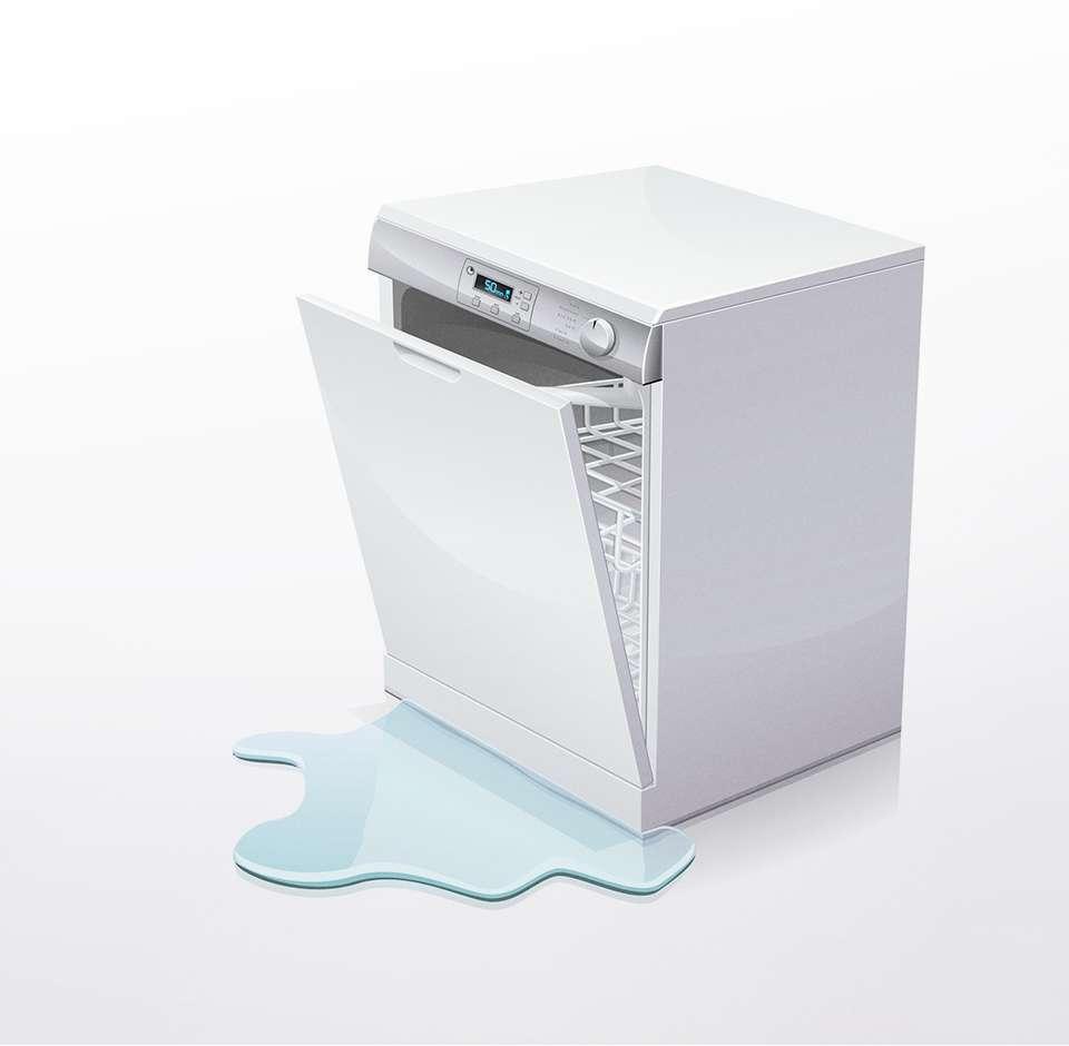 Un lave-vaisselle qui fuit