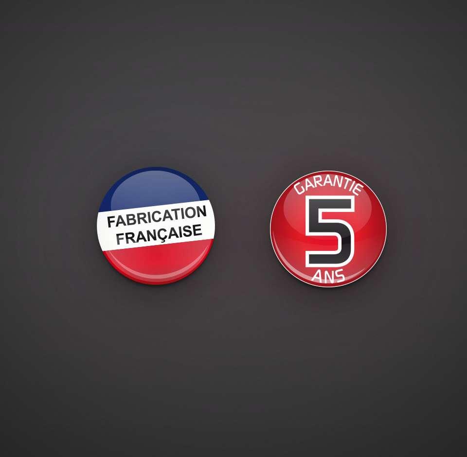 Logo fabrication française Essensys et garantie 5 ans