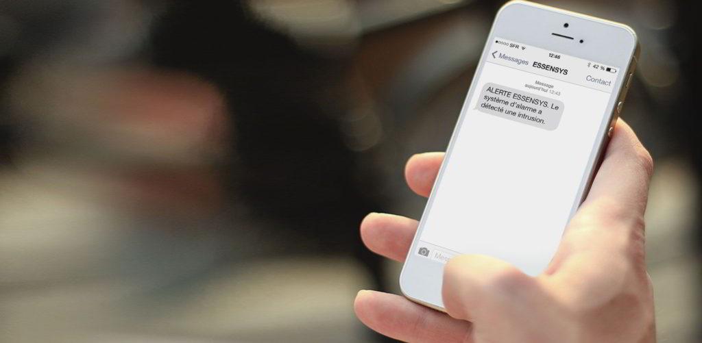 Notification d'intrusion avec l'accès à distance Essensys