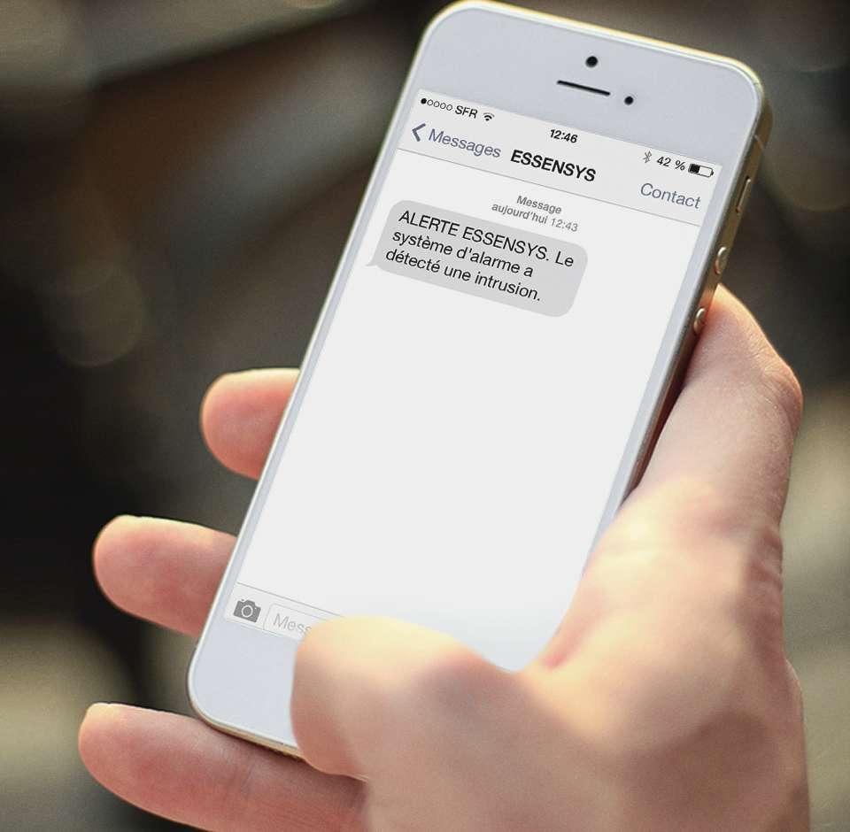 Maison connectée Essensys - notification d'instrusion