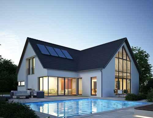 Une belle maison d'architecte avec piscine